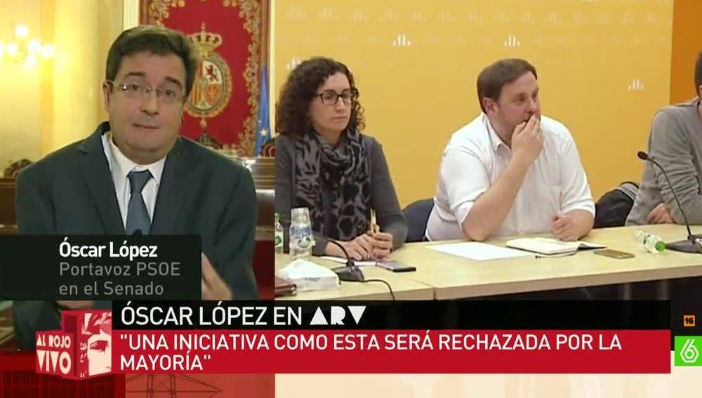 Óscar López, portavoz del PSOE en el Senado