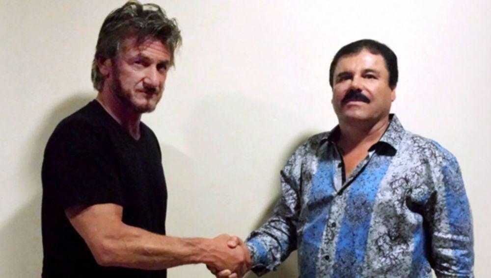 Sean Penn y Guzmán en su entrevista el pasado octubre