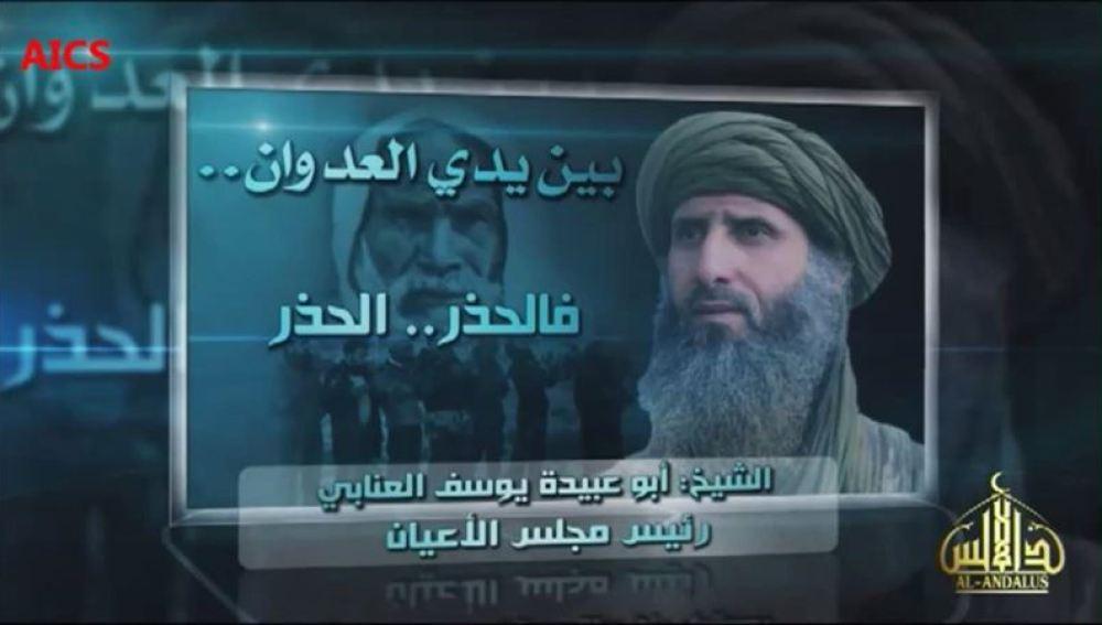 Fotograma del vídeo difundido por Al Qaeda