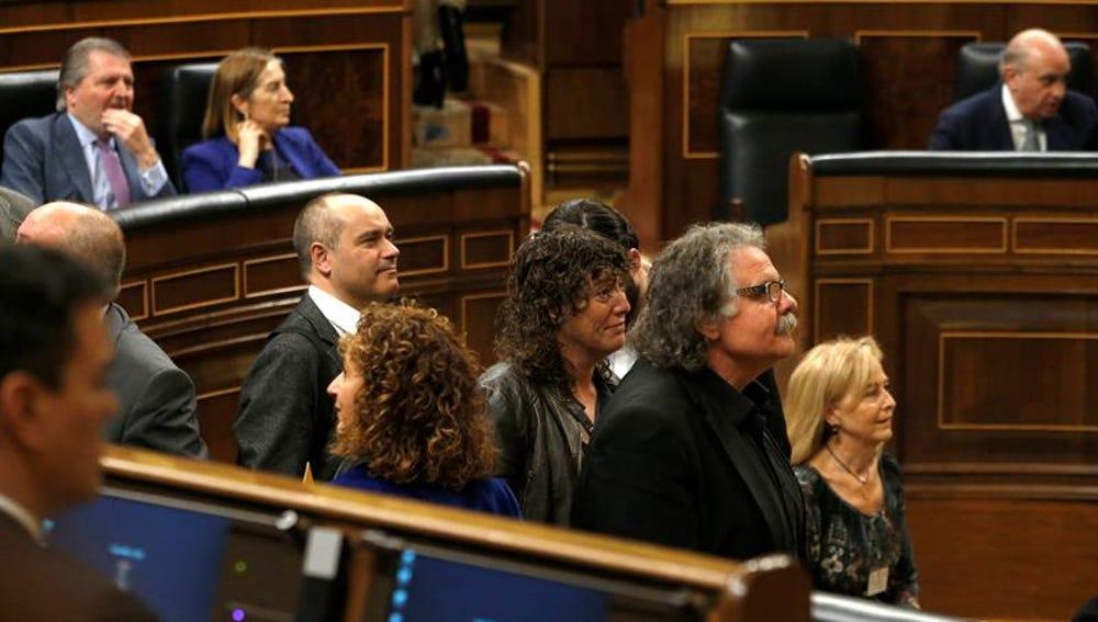 Los diputados de ERC, en el Congreso de los Diputados