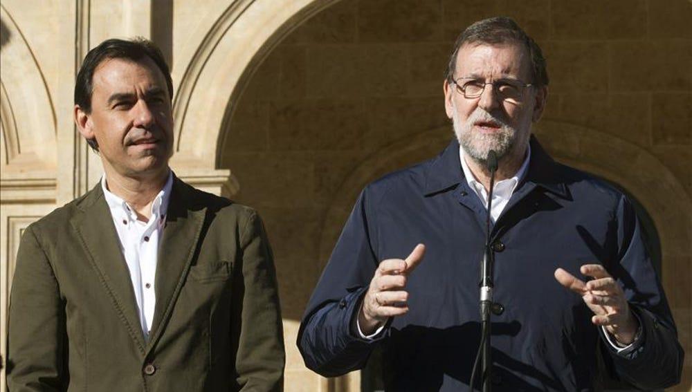 Mariano Rajoy con Maíllo en Zamora