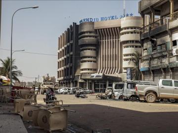 Hotel donde se ha producido un atentado en Burkina Faso