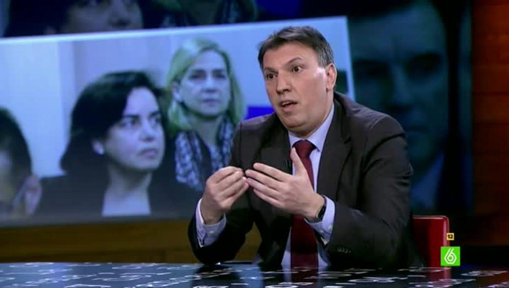 El portavoz de Jueces para la Democracia, Joaquim Bosch, visita El Intermedio