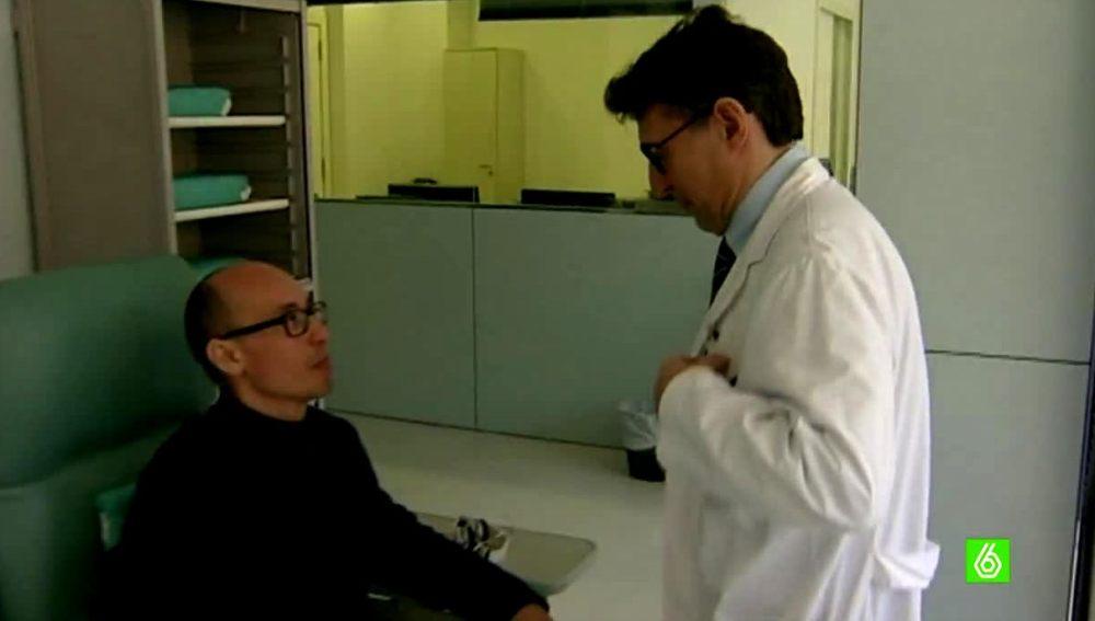 Paciente experimental con un édico