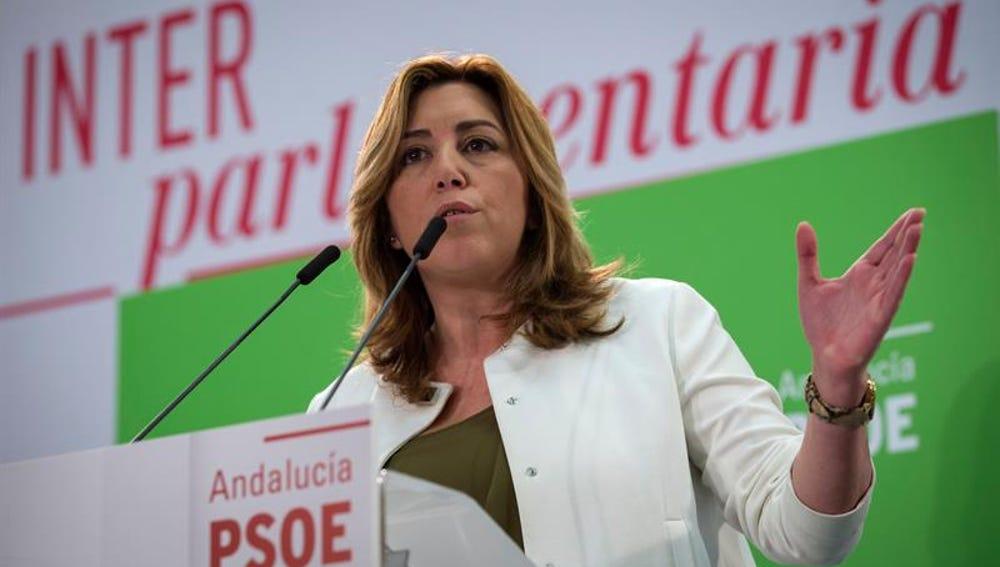 La secretaria general del PSOE-A y presidenta de la Junta de Andalucía, Susana Díaz,