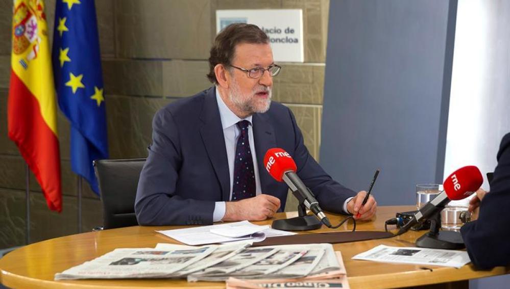 Mariano Rajoy, en una entrevista en RNE