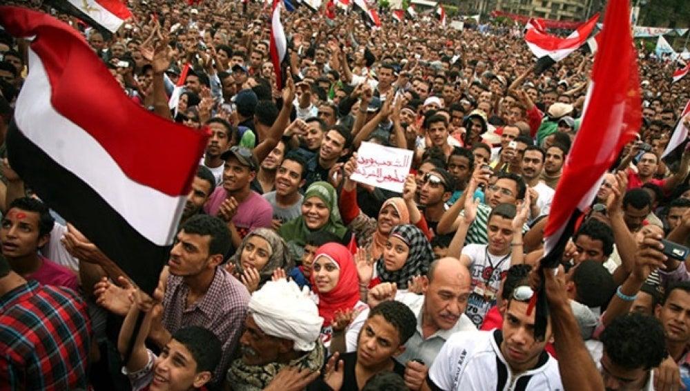 Imagen protestas en Egipto en 2011