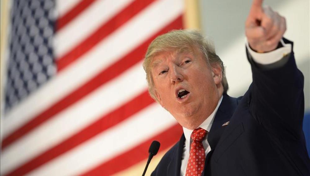 El precandidato presidencial estadounidense por el partido Republicano Donald Trump.