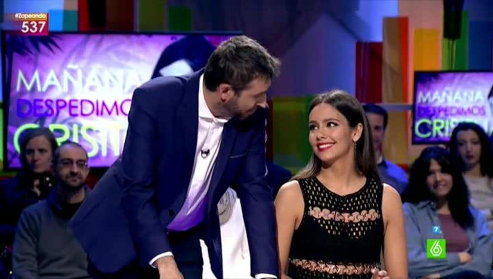 Cristina Pedroche y Frank Blanco, en Zapeando