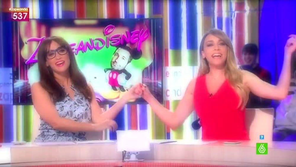 Anna Simon y Ana Morgade, amigas en Zapeandisney