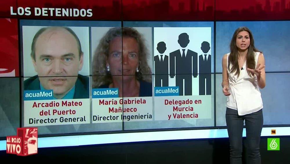 Los principales imputados en el escándalo de AcuaMed