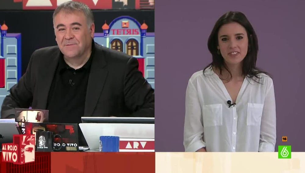 Irene Montero, diputada de Podemos en el Congreso