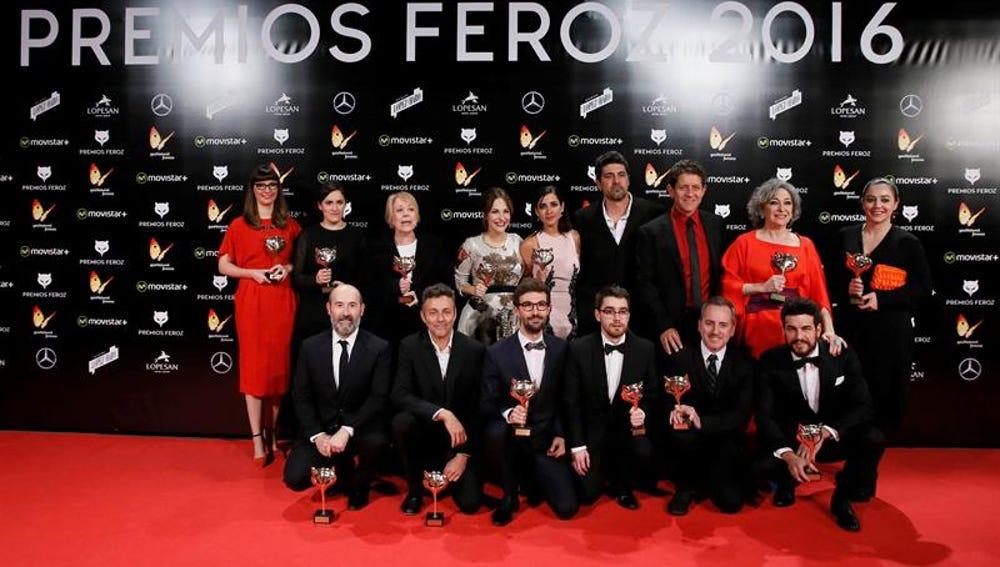 Foto de los premiados de la tercera edición de los Premios Feroz