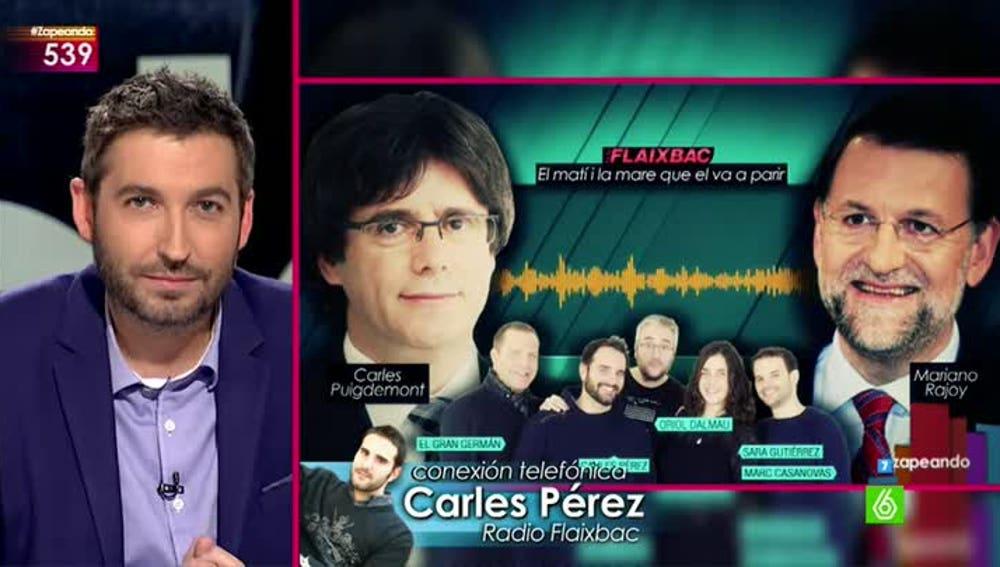 Carles Pérez, de radio Flaixbac, en Zapeando