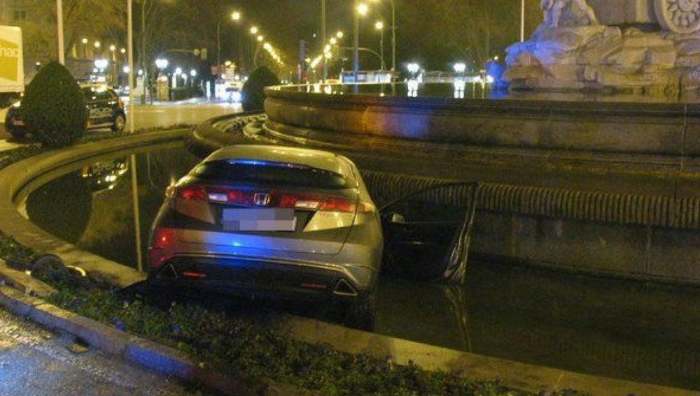 Imagen del vehículo siniestrado en Cibeles