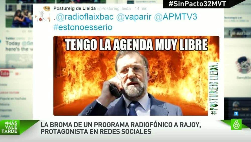 Broma radiofónica de Rajoy, en redes sociales
