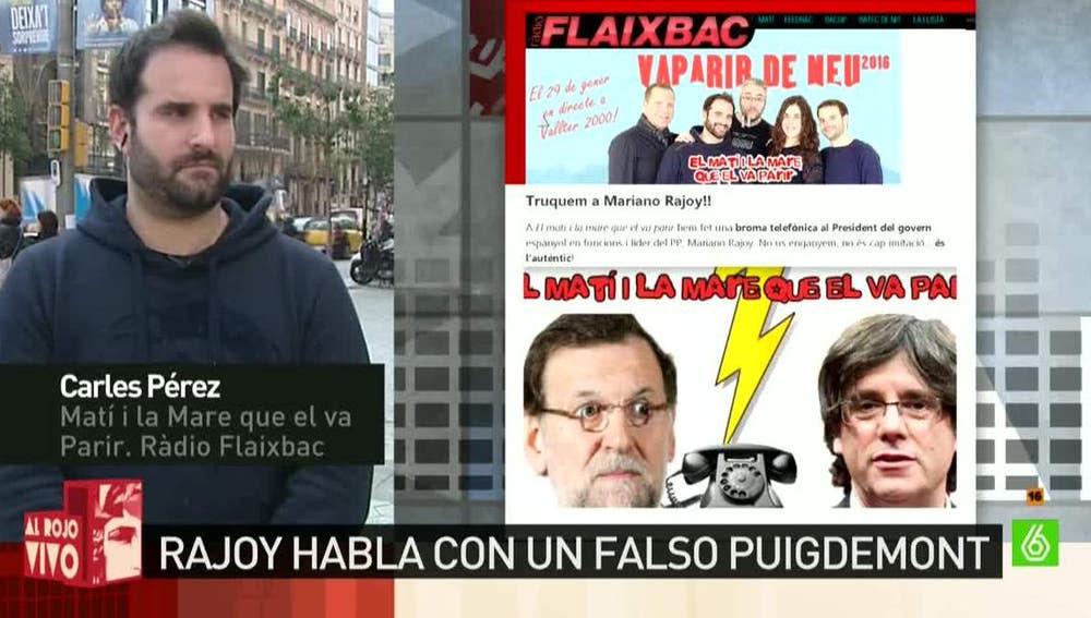 Carles Pérez, miembro del programa 'Matí i la Mare que el va Parir'