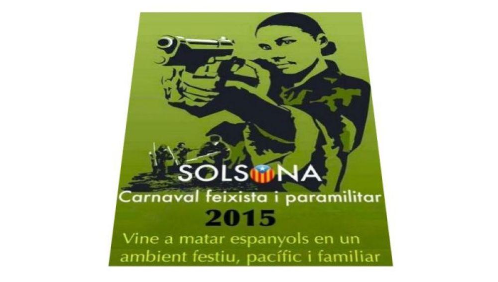 Cartel del carnaval de Solsona que animaba a matar españoles