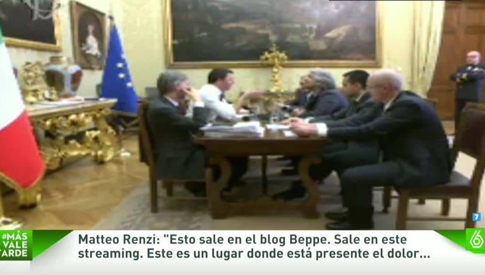 Debate en streaming entre Beppe Grillo y Matteo Renzi