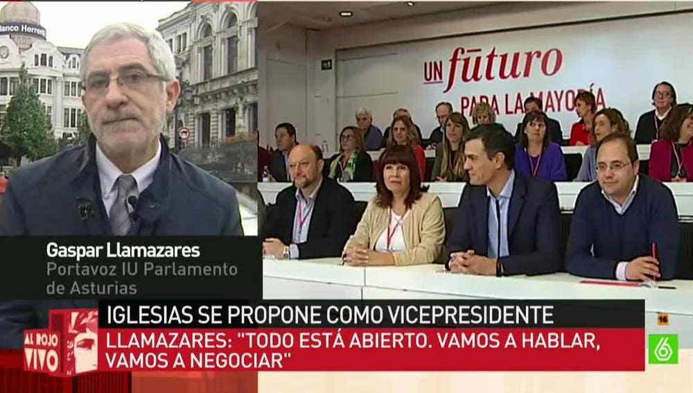 Gaspar Llamazares, portavoz de IU del Parlamento de Asturias
