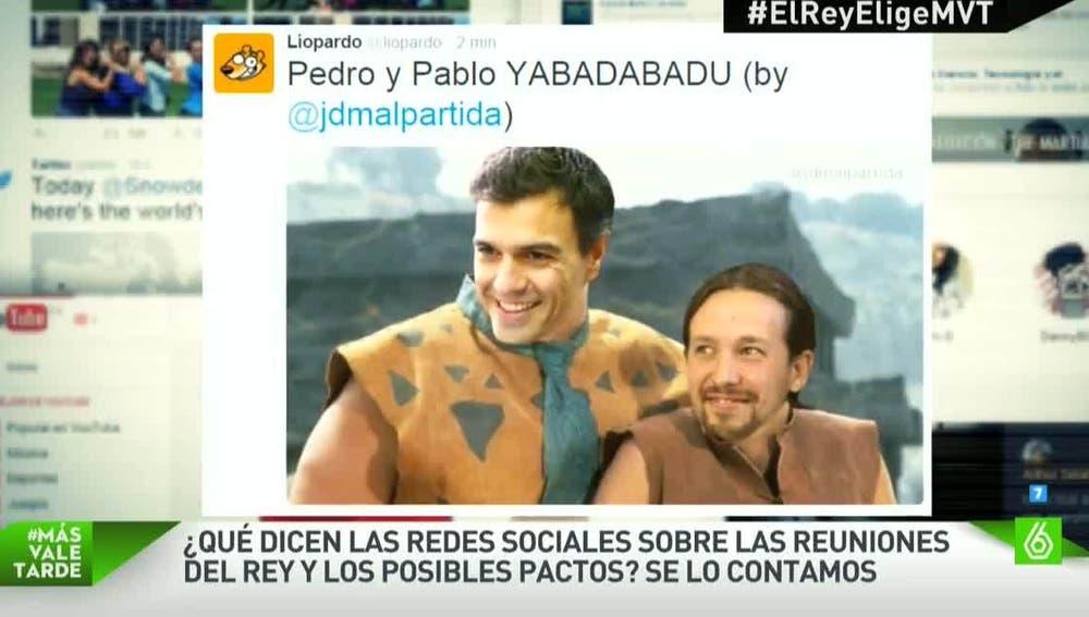 Pedro Sánchez y Pablo Iglesias, convertidos en memes