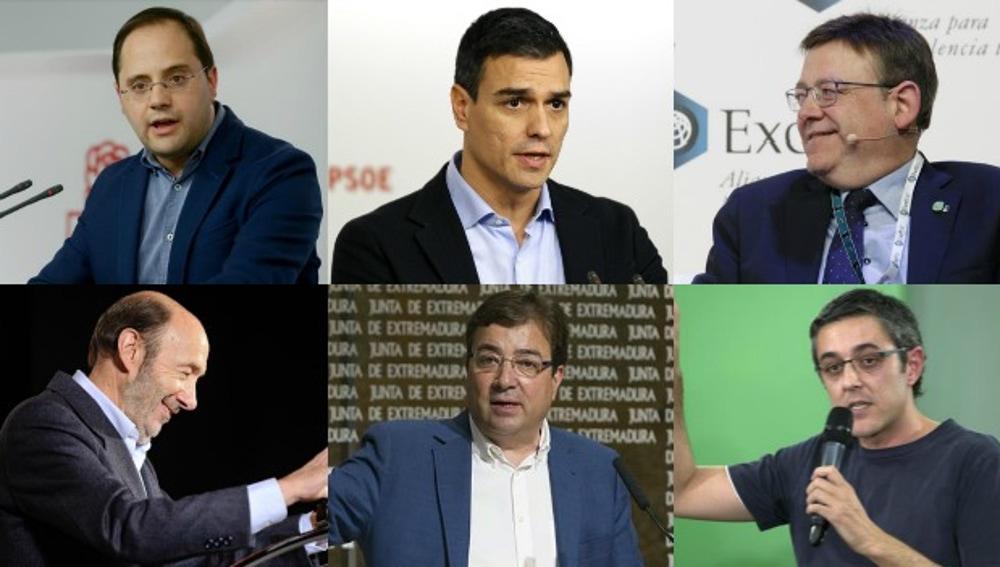 Líderes del PSOE