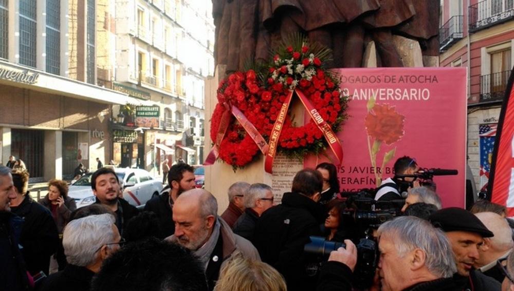 Homenaje por el 39º aniversario del atentado de Atocha 55