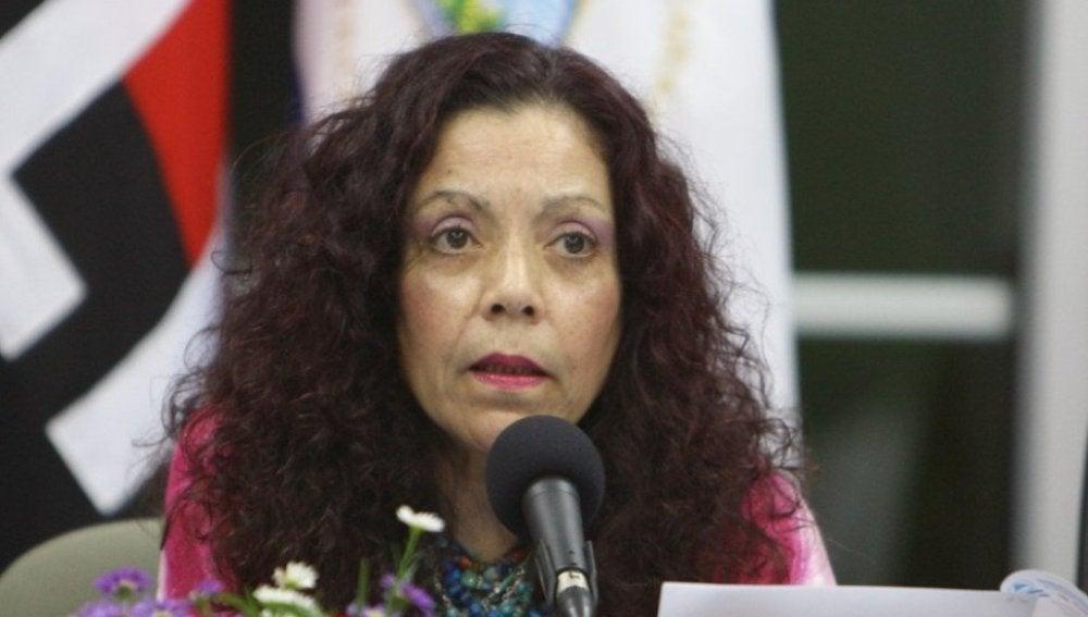 La portavoz de la Presidencia de Nicaragua, Rosario Murillo