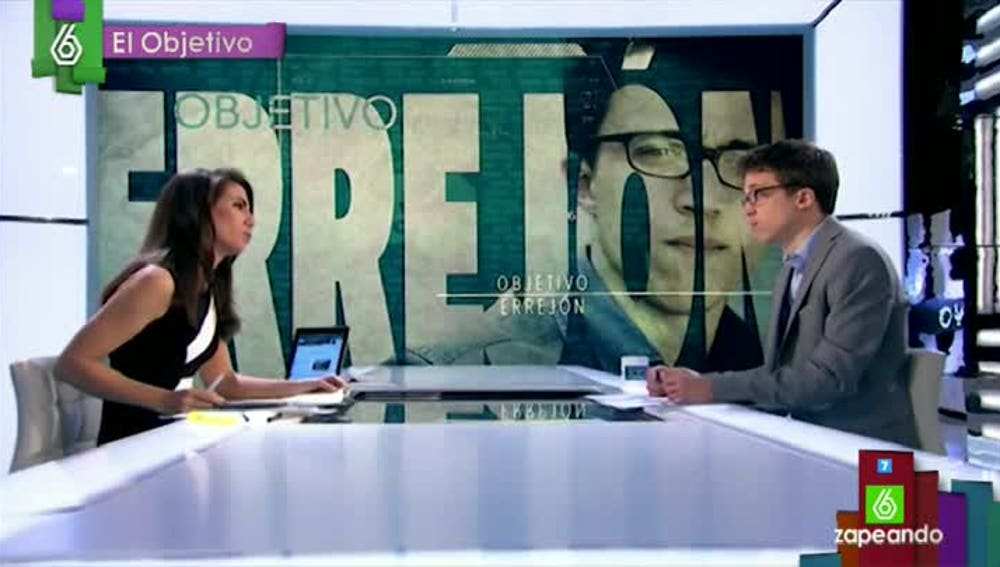 Ana Pastor entrevista a Íñigo Errejón, en El Objetivo