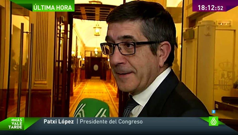 Patxi López habla con laSexta
