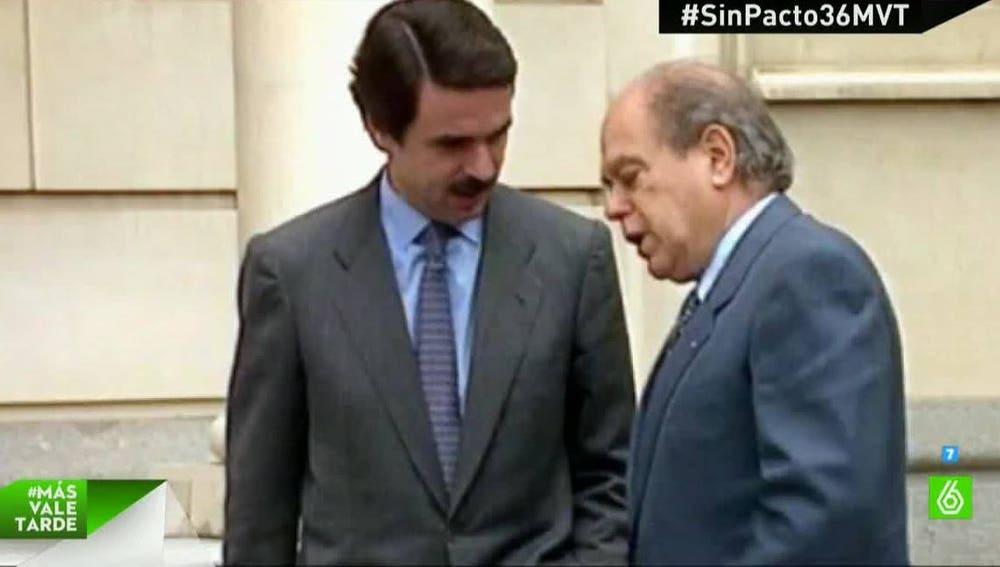 José María Aznar y Jordi Pujol