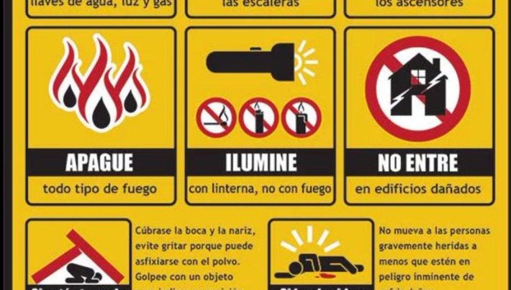 Guía sobre cómo actuar durante un terremoto