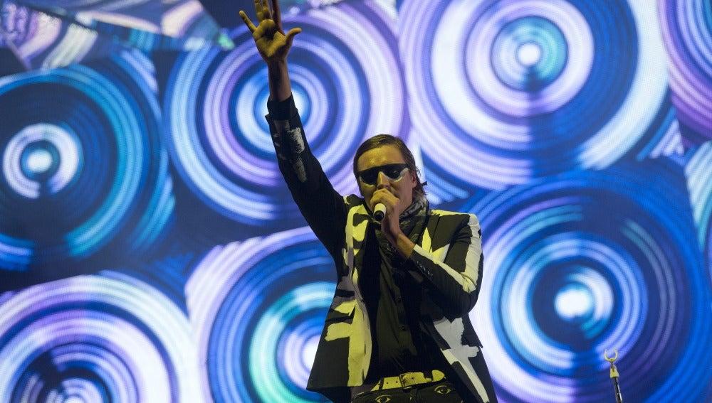 La banda canadiense Arcade Fire, durante un concierto (archivo).