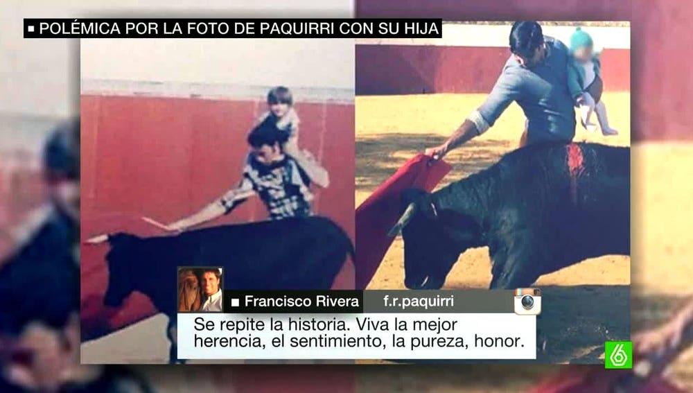 Francisco Rivera toreando con su hija