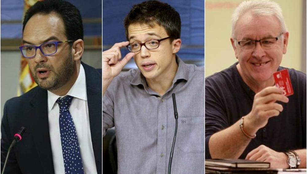 Antonio Hernando, Íñigo Errejón y Cayo Lara