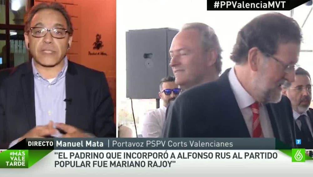 Manuel Mata, portavoz del PSPV en las Corts Valencianes