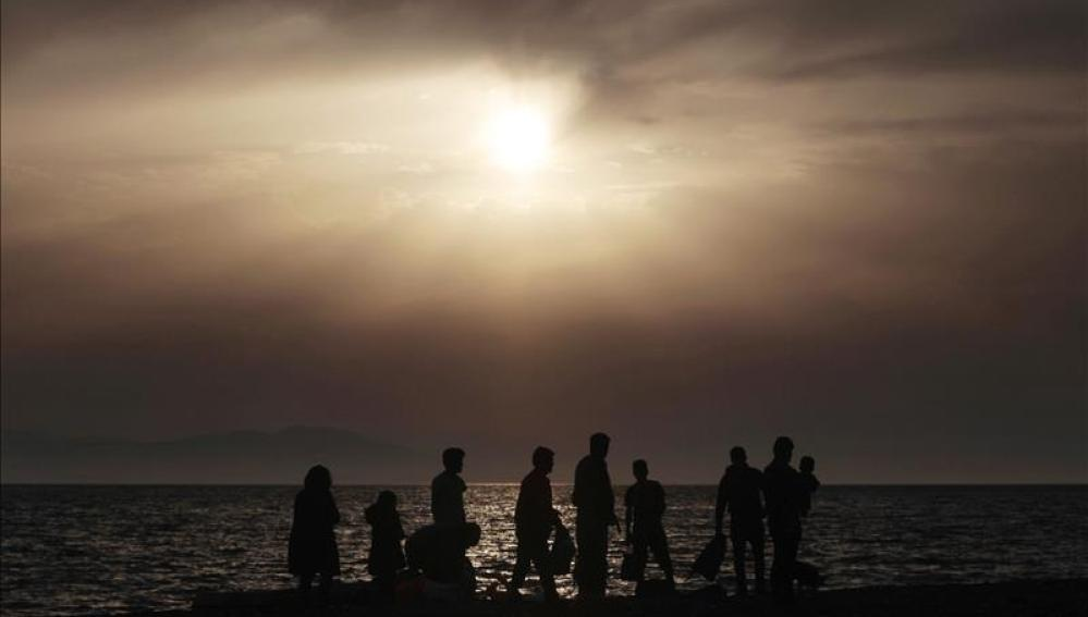 Más refugiados llegando a costas griegas