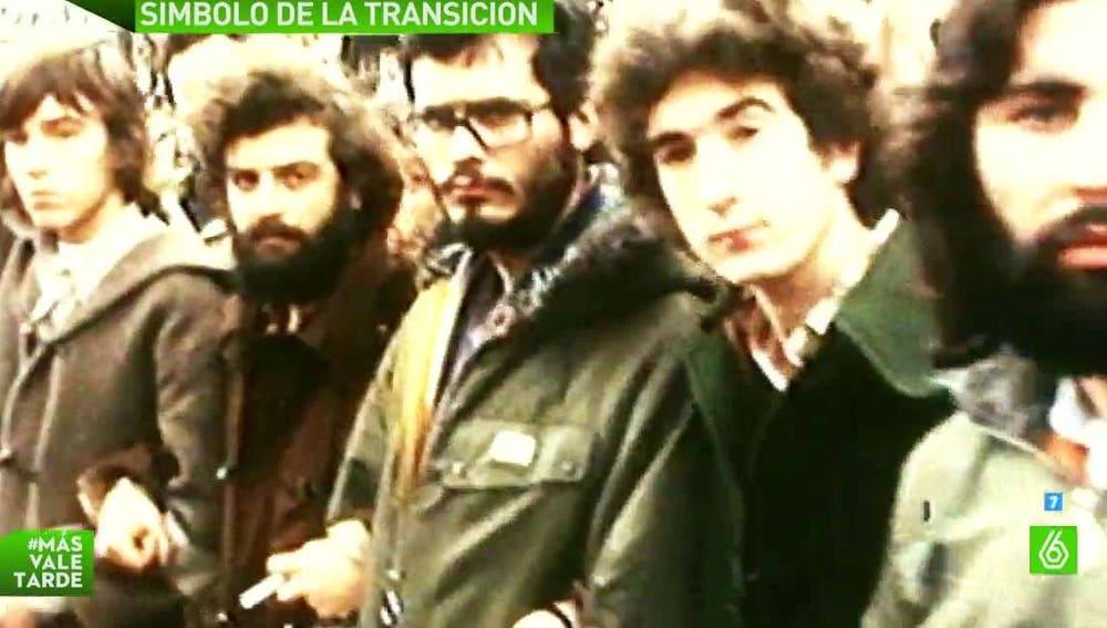 Manifestantes tras la matanza de Atocha