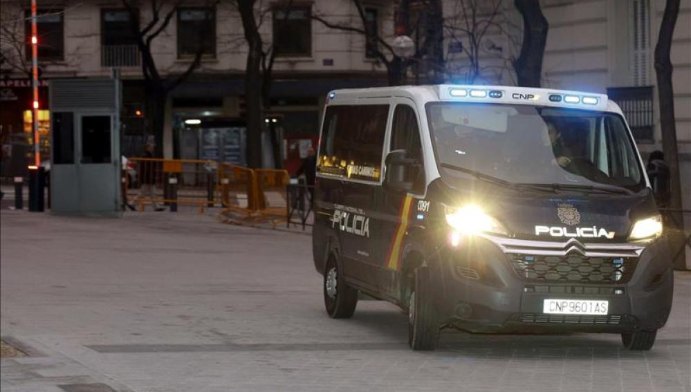 Imagen de un furgón policial