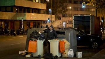 Contenedores de basura en Madrid