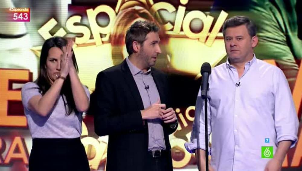 Miki Nadal e Irene Junquera se meten en la piel de Antonio Carmona en 'Tu playback me suena'