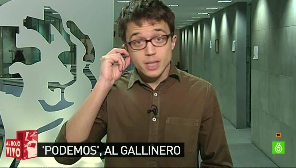 Íñigo Errejón, diputado de Podemos