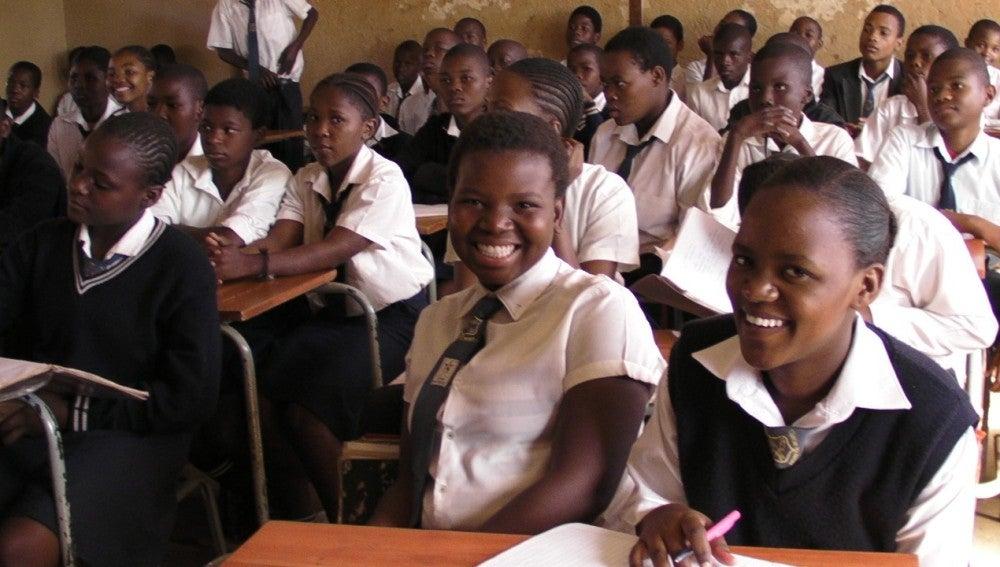 Jóvenes sudafricanas en el colegio