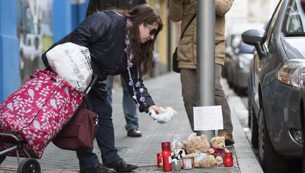Homenaje a la bebé asesinada en Vitoria