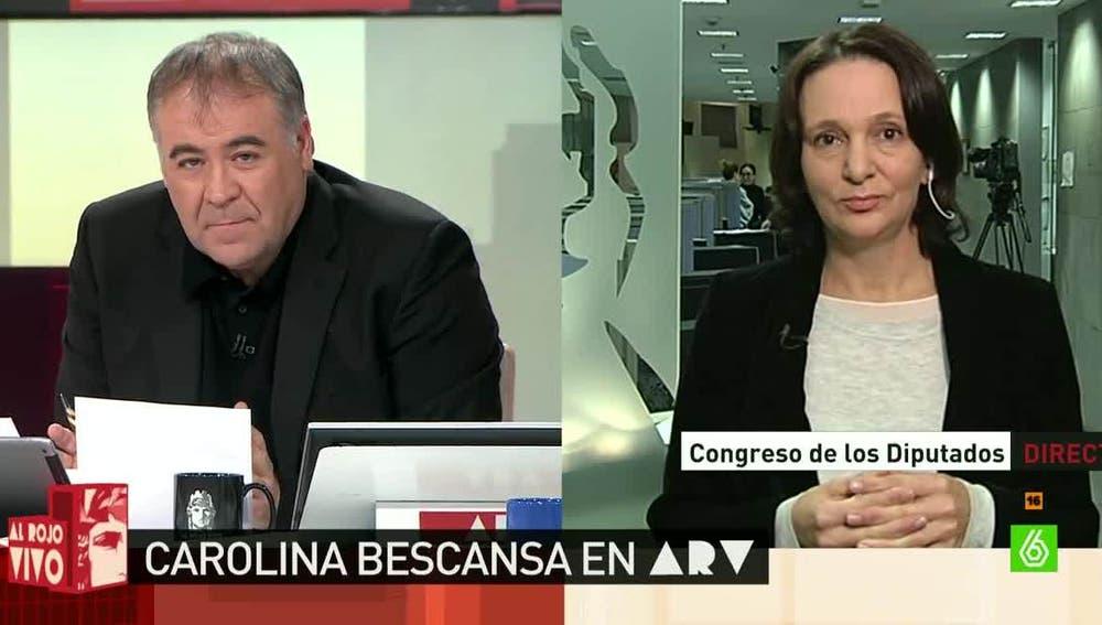 Carolina Bescansa, secretaria general de Podemos en el Congreso
