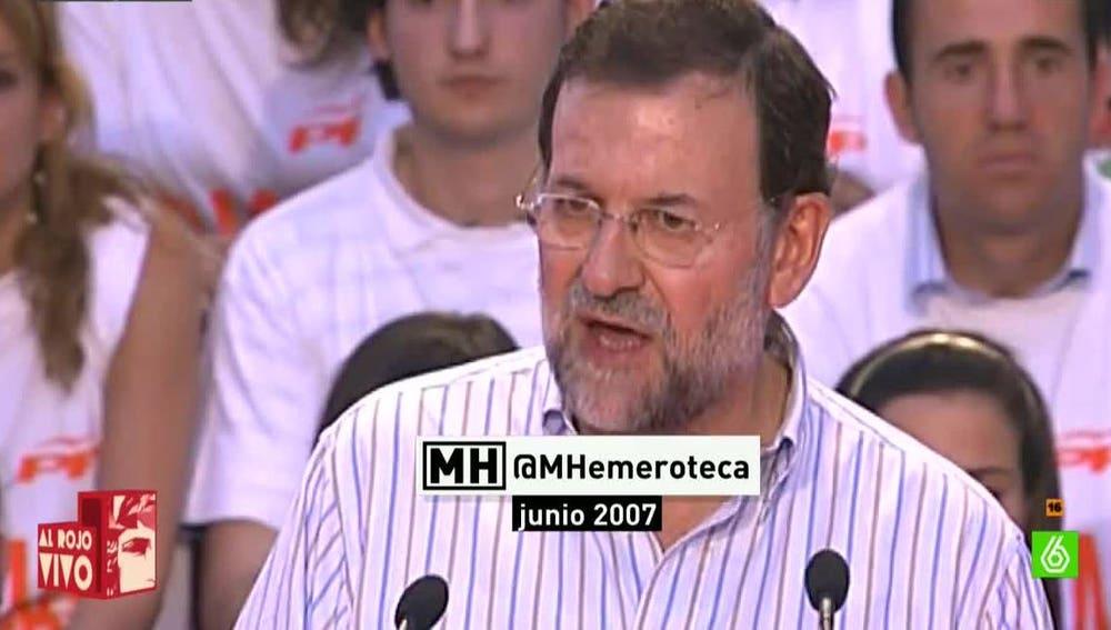 Mariano Rajoy, presidente del Gobierno, en 2007