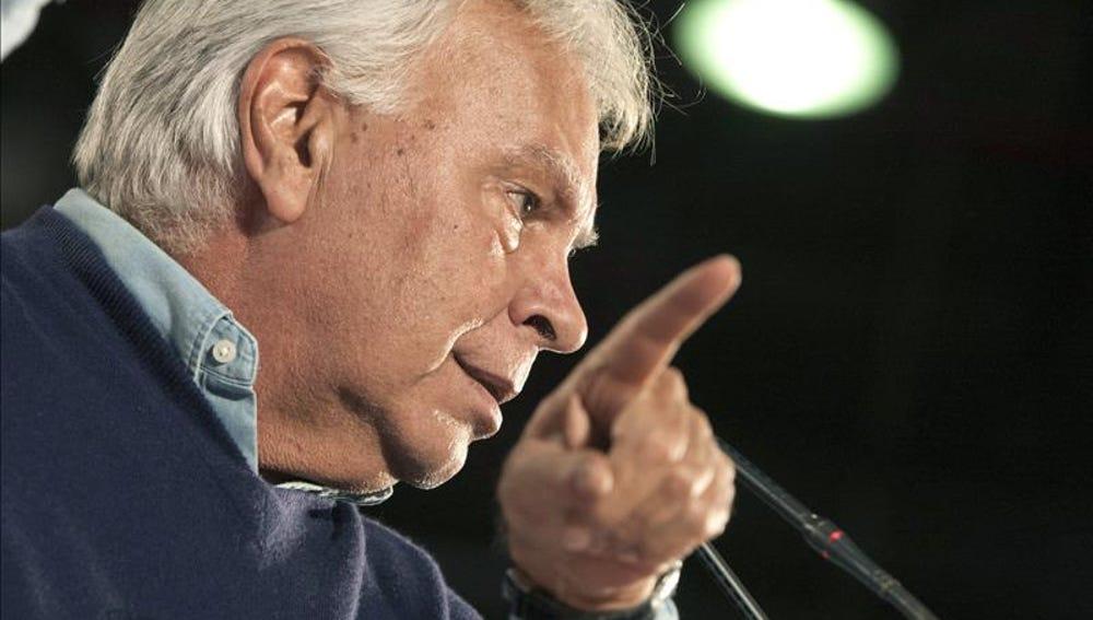 El expresidente del gobierno, Felipe González