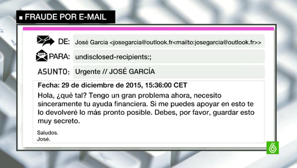 Fraude correo electrónico