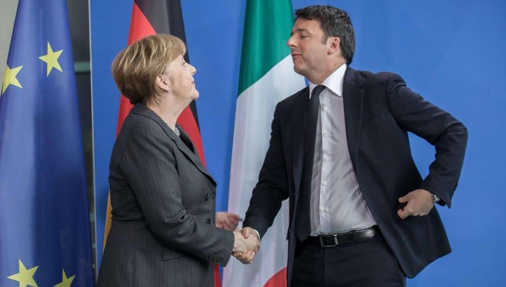 Merkel y Renzi reunidos en Berlín
