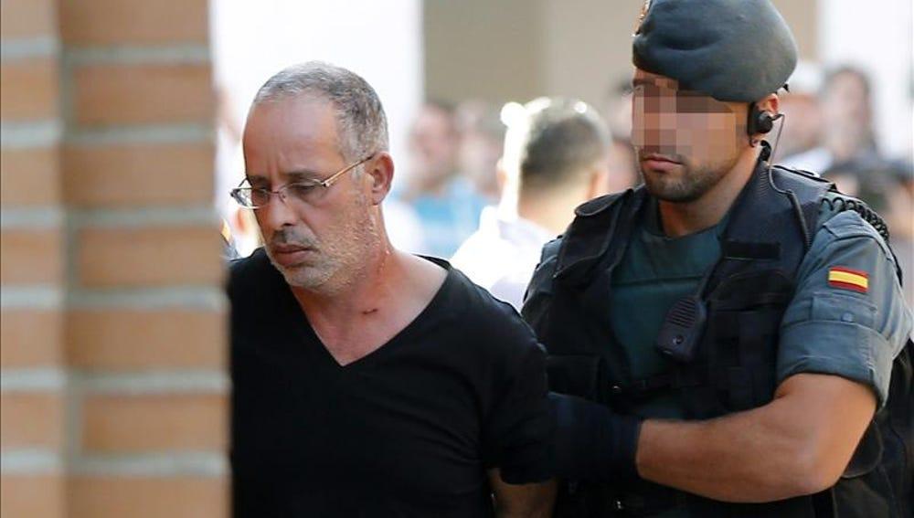 Ahmed Chelh, presunto autor de Eva Blanco, en su ingreso en la cárcel